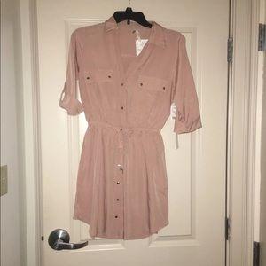 Light Pink Button up Mini Dress